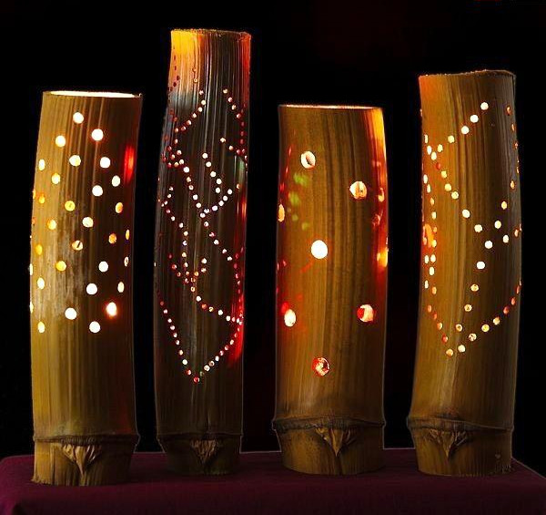 Bamboo Lamps with Gorgeous Patterns(#545)-gallery-0