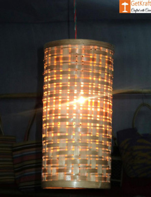 Bamboo Hanging Lampshade - Natural Bamboo color(#547)-gallery-0