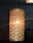 Bamboo Hanging Lampshade - Natural Bamboo color(#547) - getkraft.com