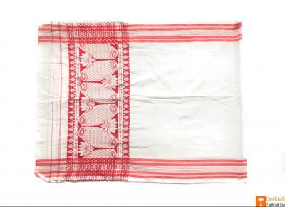 Traditional Assamese Handloom Gamosa(#548)-gallery-0
