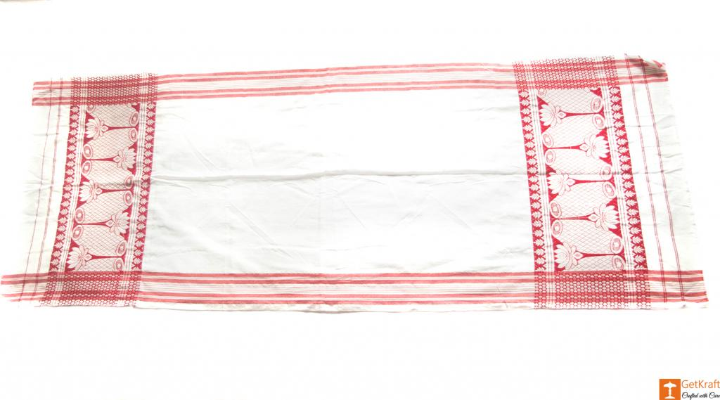 Traditional Assamese Handloom Gamosa(#548)-gallery-1