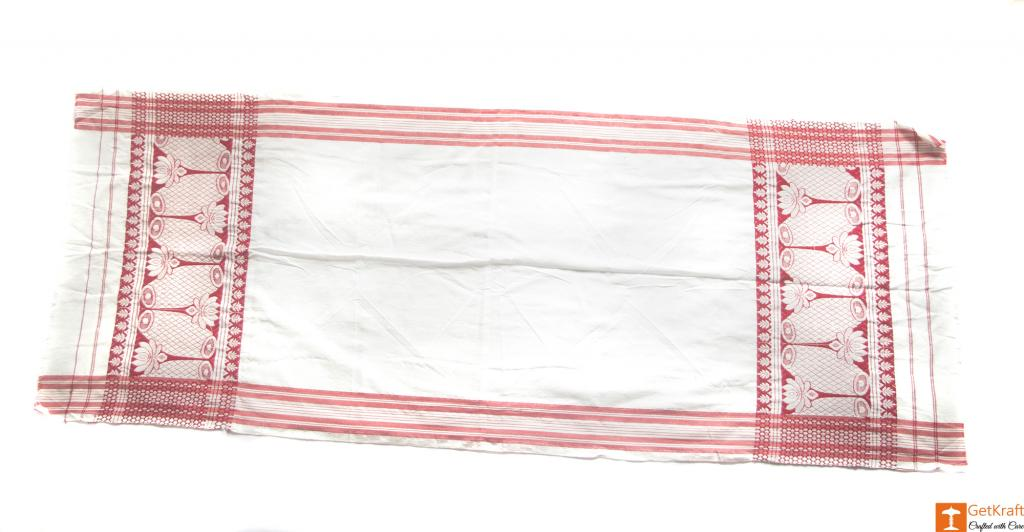 Traditional Assamese Handloom Gamosa(#548)-gallery-2