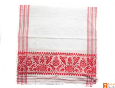 Traditional Handmade Assamese Gamosa(#550)-gallery-0
