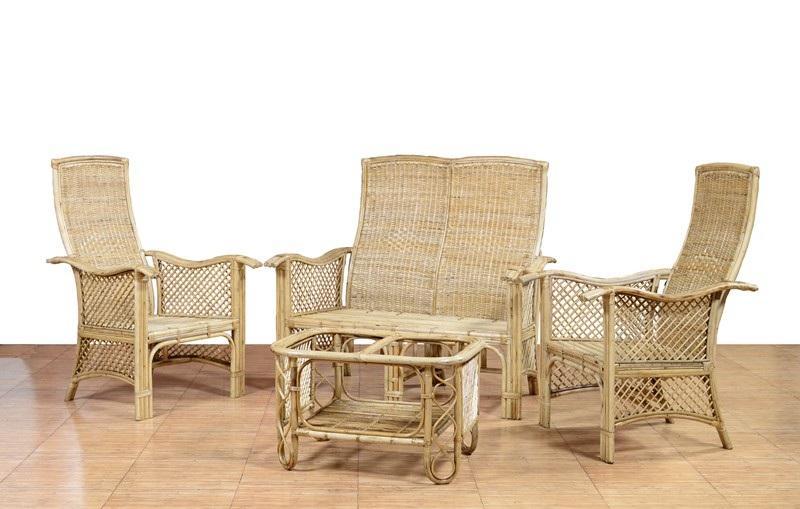 Contemporary Cane Sofa Set - Tea table Set(#563)-gallery-0