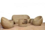 Sofa Set made from Cane Trendy for Home Office(#564) - getkraft.com