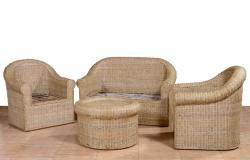 Cane Sofa Set for your Home Office Decor 2 1 1 Setting