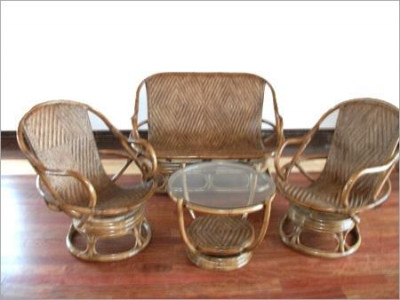 Cane Designer Sofa Set with Table(#571)-gallery-0