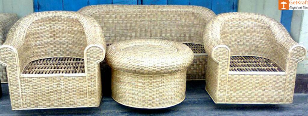 5 Seater Sofa Set made from Cane(#576)-gallery-0