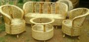 Simple Designer Cane Sofa Set 3 1 1 (with table)(#577) - getkraft.com