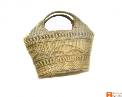 Large Natural Straw Handbag with beautiful design(#580)-gallery-0