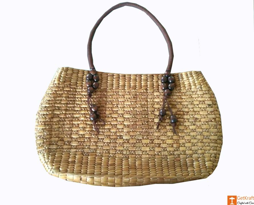 Medium-sized Handmade Straw Bag(#582)-gallery-2