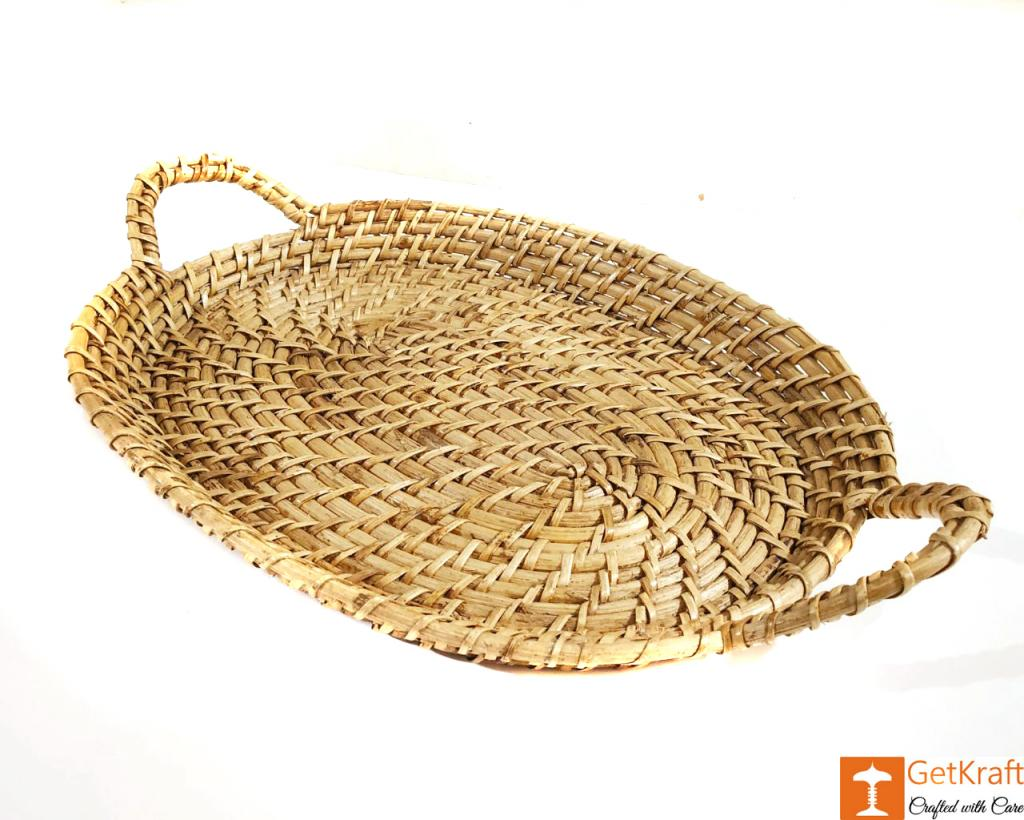 Cane Serving Tray for Home decor Guest serving Kitchen use(#597)-gallery-0