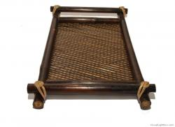 Bamboo Serving Tray (Coffee Brown) for Utility and Home Decor(#598) - getkraft.com