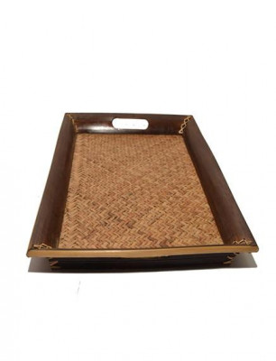 Bamboo and Sitalpati Handcrafted Serving Tray(#599)-gallery-0