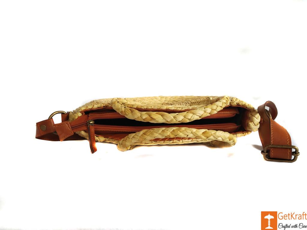 Natural Straw Large Handbag with Long Adjustable Belt for Women(#604)-gallery-1