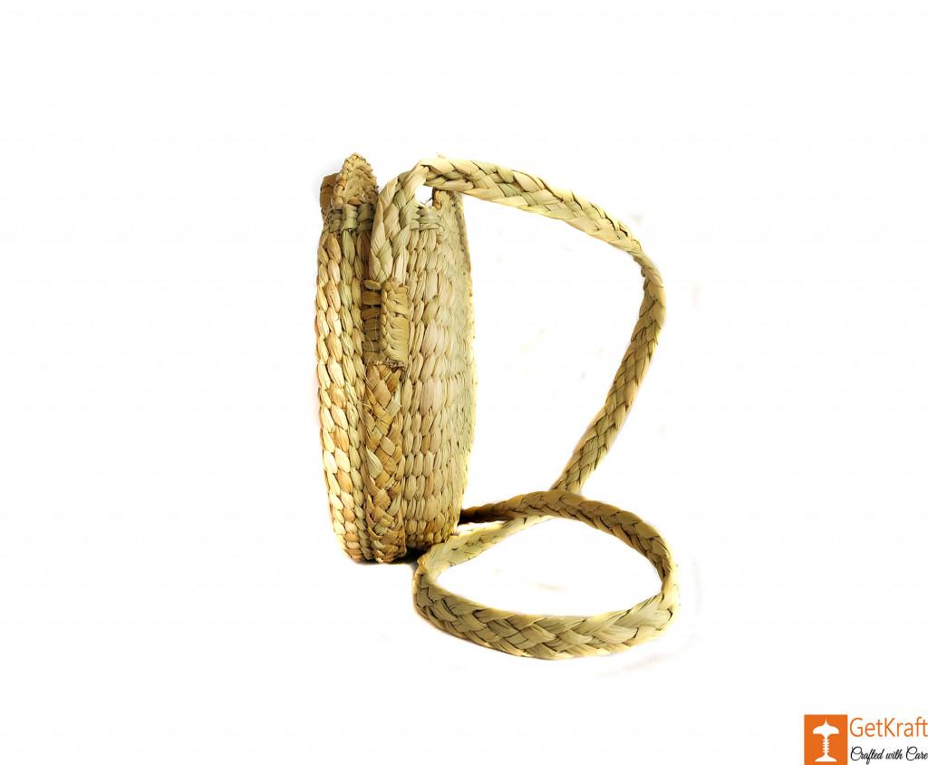 Kauna Round Handbag with medium sized handle(#605)-gallery-1