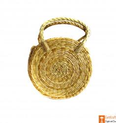 Kauna Round Handbag with small handle(#606) - getkraft.com