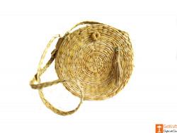 Kauna Round Side Handbag with long sling and front design(#607) - getkraft.com