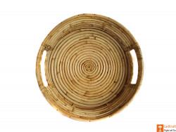Round Handmade Cane Serving Tray(#609) - getkraft.com