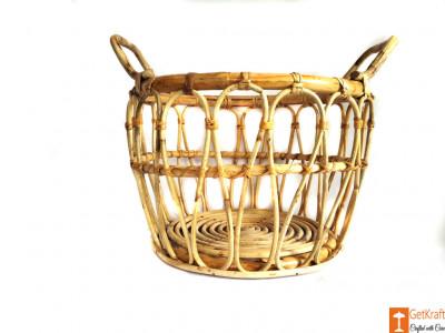 Multipurpose Cane Basket - Laundry Basket - Home Decor Basket(#610)-gallery-0