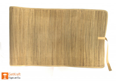 Natural Straw Yoga Mat with straight ends(#629)-gallery-0