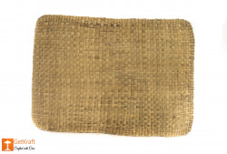 Water Hyacinth Mat with round ends(#630) - getkraft.com