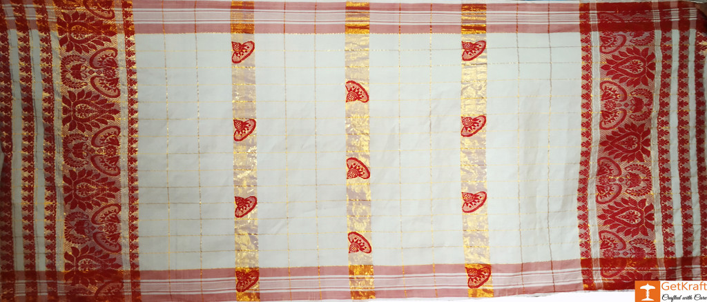Assamese Gamosa (Pat Silk with Guna)(#631)-gallery-0