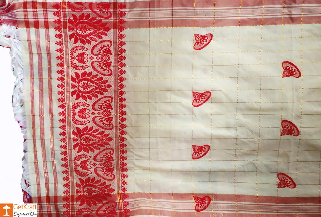 Assamese Gamosa (Pat Silk)(#632)-gallery-0