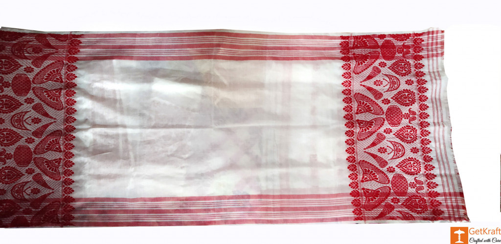 Plain Assamese Gamosa (Cotton)(#635)-gallery-2