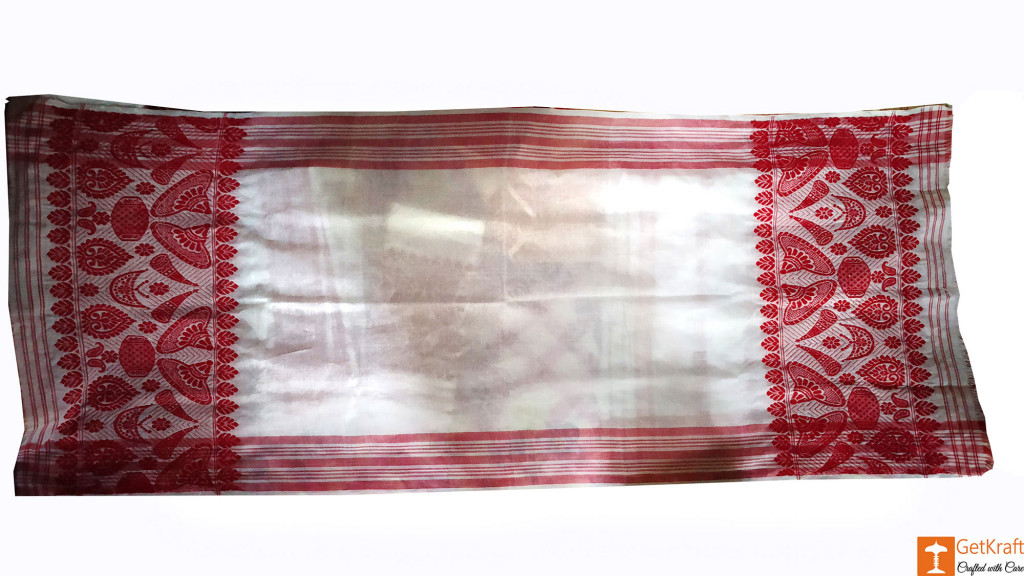 Plain Assamese Gamosa (Cotton)(#635)-gallery-0