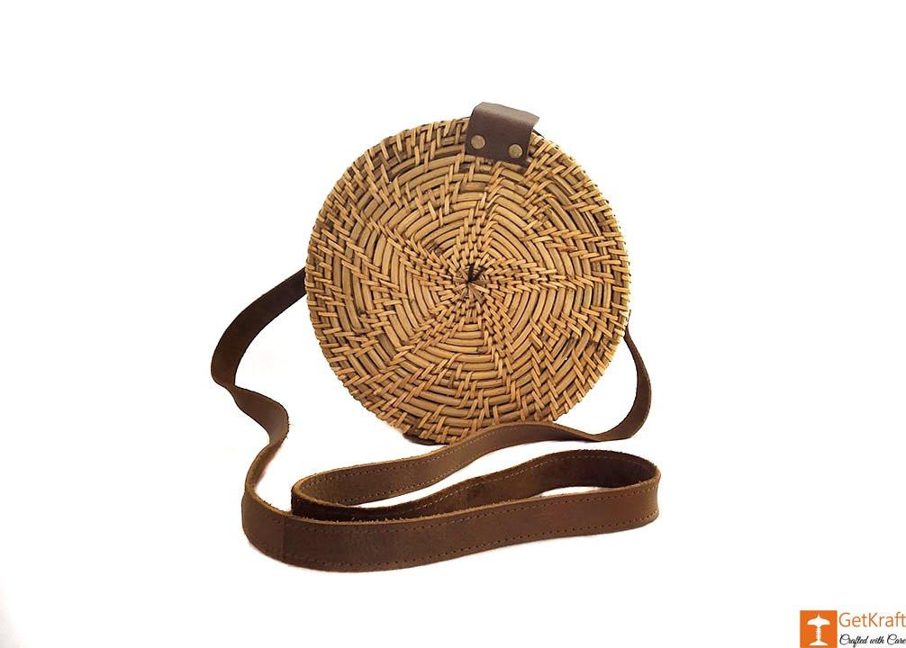 Cane Leather Designer Sling Bag(#638)-gallery-1