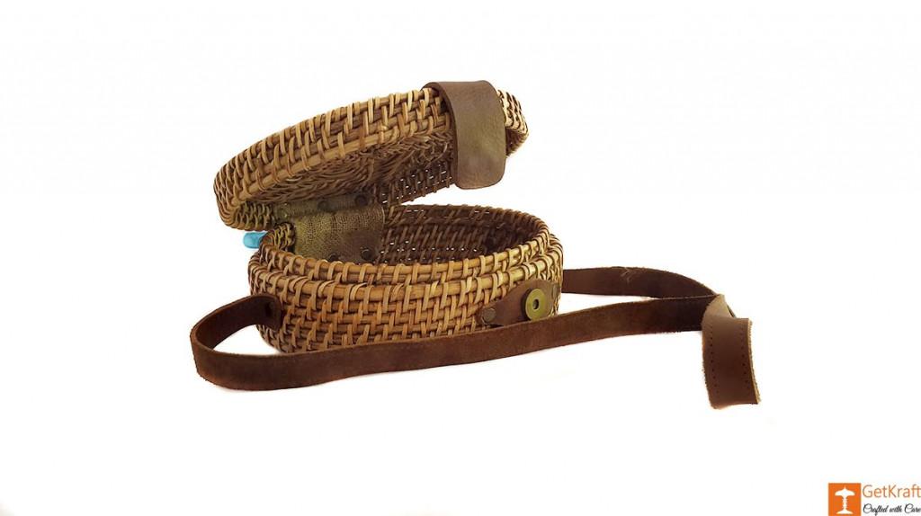 Cane Leather Designer Sling Bag(#638)-gallery-2