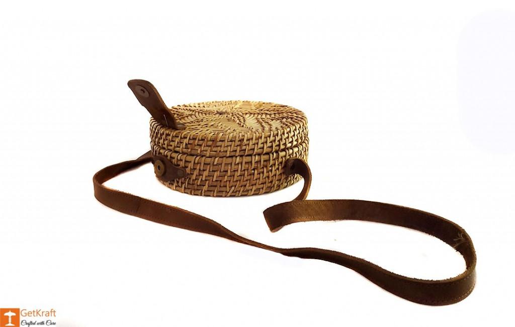 Cane Leather Designer Sling Bag(#638)-gallery-3