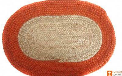 Jute Handmade Doormat(#641)-gallery-0