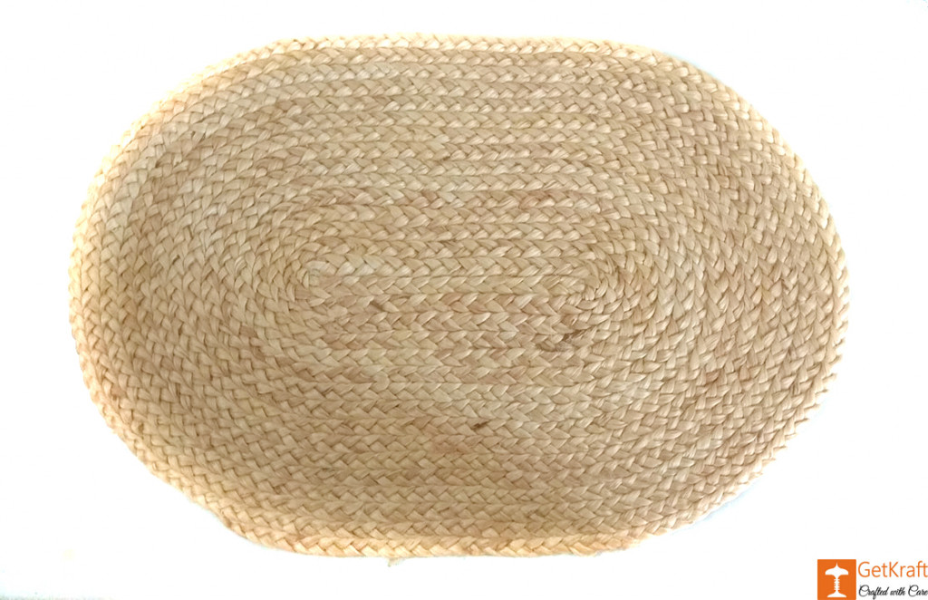 Jute Handmade Doormat (Natural Jute Color)(#645)-gallery-0