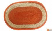 Jute Handmade Doormat (Orange and Natural Jute colour)(#646) - Getkraft.com