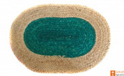 Jute Handmade Doormat (Green and Natural Jute Color)(#648) - getkraft.com