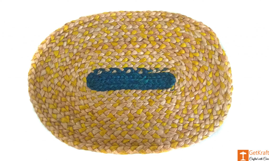Jute Handmade Doormat (Multicolored)(#649)-gallery-0