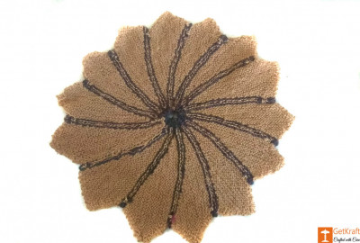 Star-shaped Jute Doormat (Multicolored)(#652)-gallery-0