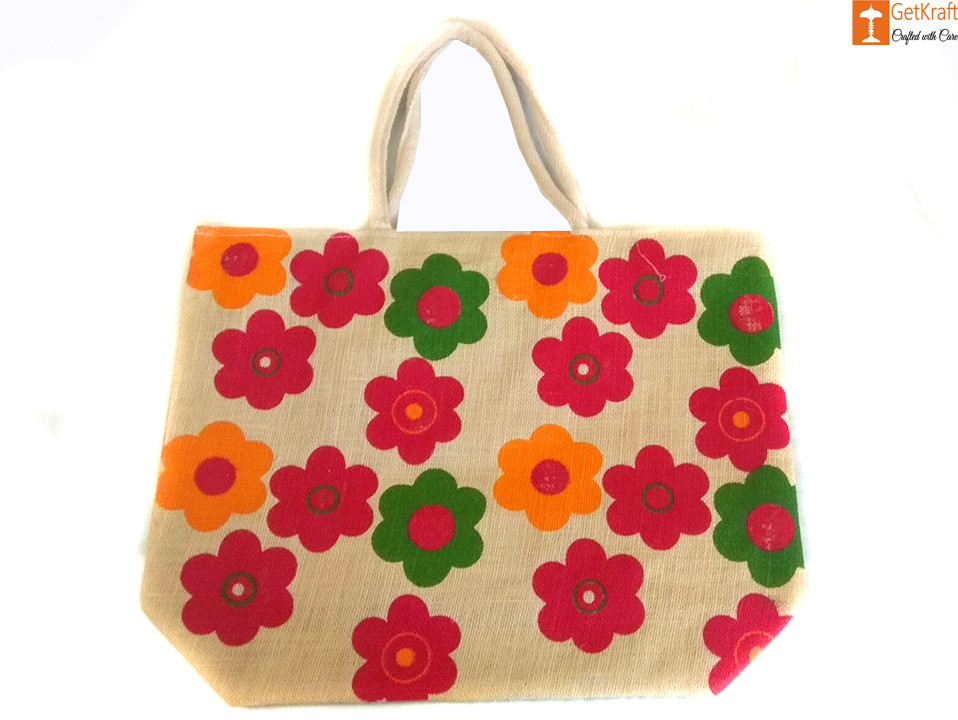 Multipurpose Eco-friendly Jute Bag (Multicolored)(#657)-gallery-0