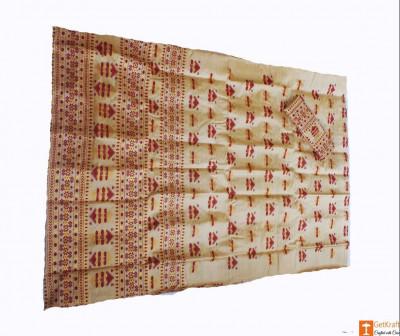 Assamese Chadar Mekhela Toss Muga Silk(#677)-gallery-0