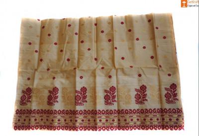 Mekhela made from Toss Muga Silk(#682)-gallery-0