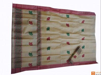 Riha Chadar Mekhela Handmade from Pure Muga(#685)-gallery-0
