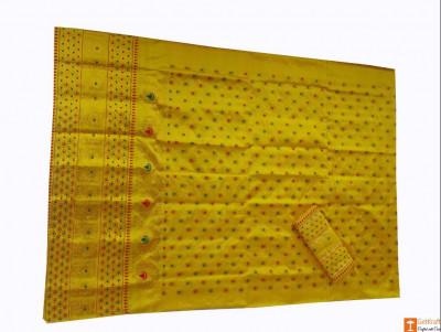 Assamese Silk Saree - Pure Pat Mekhela Chador(#688)-gallery-0