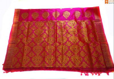 Pat Mekhela Chador Set Pink Color from Sualkuchi(#696)-gallery-0