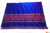 Contrasting Assamese Pat Chador Mekhela Set(Navy Blue)(#699) - getkraft.com
