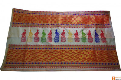 Assam Silk Saree with Mayur Pattern(#703)-gallery-0