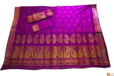 Glamorous Handloom Mekhela Chador Set with Unique Design(#708)-gallery-0