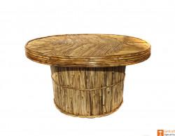 Handcrafted Eco-friendly Cane Tea Table Home Decor(#718) - getkraft.com