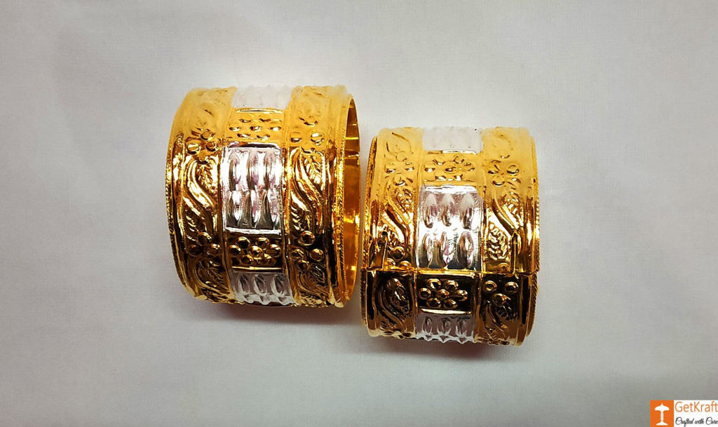 Classic Assamese Traditional Jewellery Gamkharu - Pair of Bangles(#737)-gallery-2
